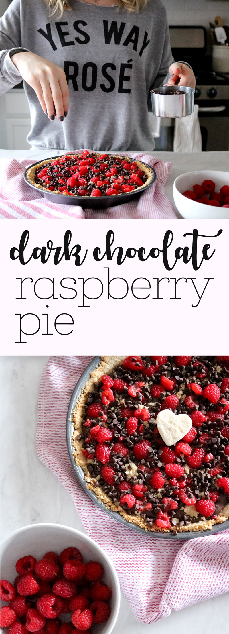 Dark Chocolate Raspberry Pie | via Pies Before Guys