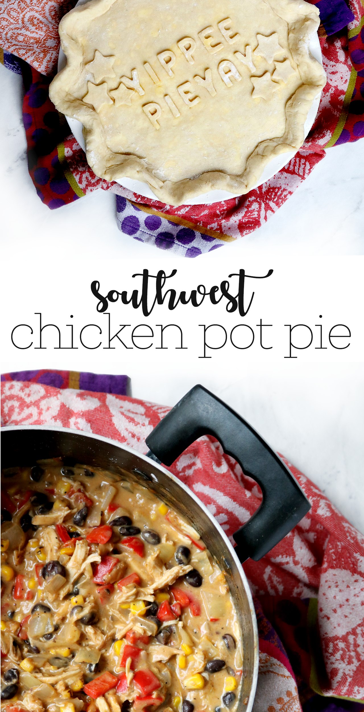 Southwestern Chicken Pot Pie recipe | via allspice blog
