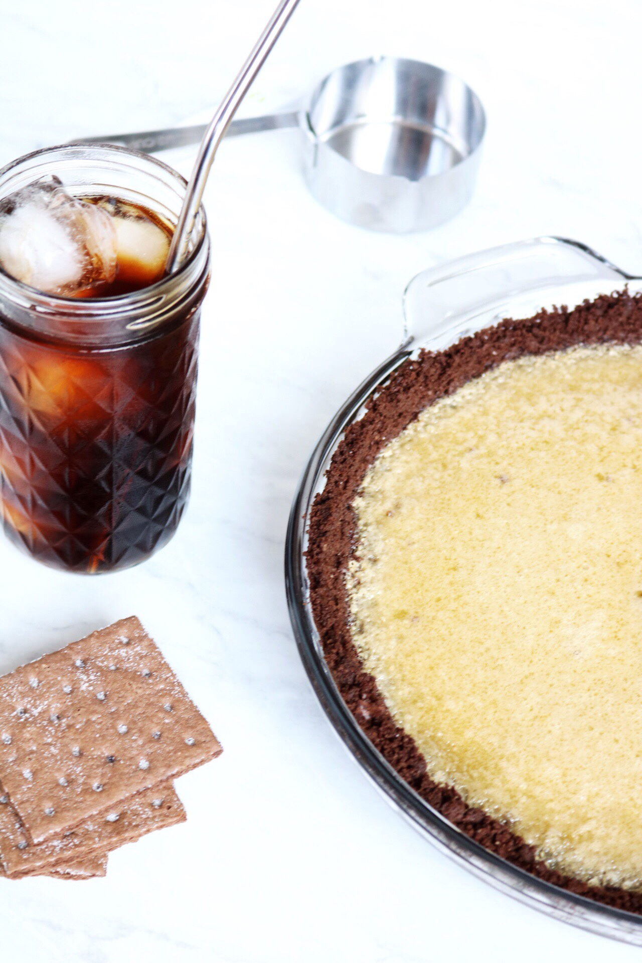 Cold Brew Coffee Pie recipe | via Pies Before Guys