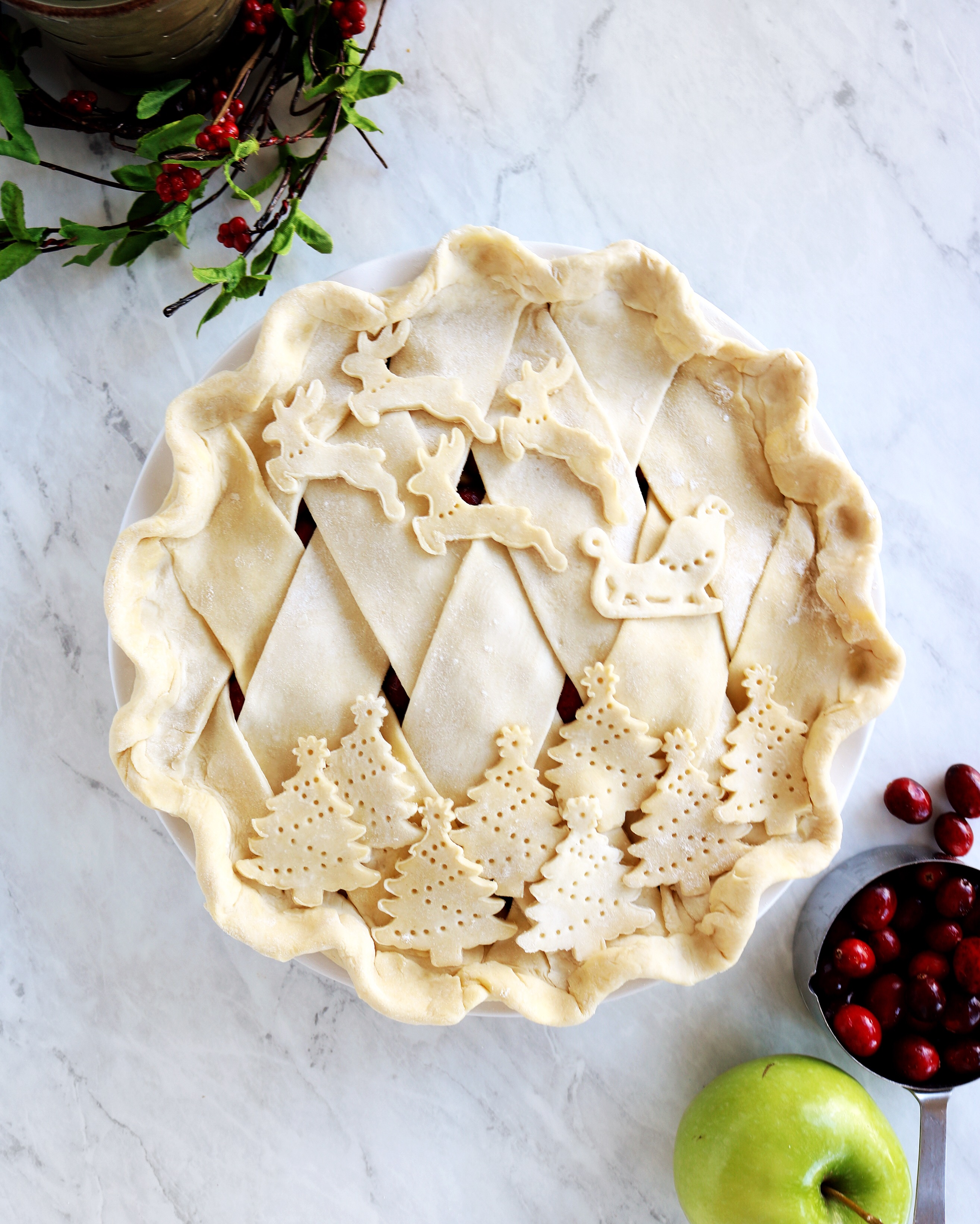 Cranberry Apple Pie, perfect for Christmas | Pies Before Guys